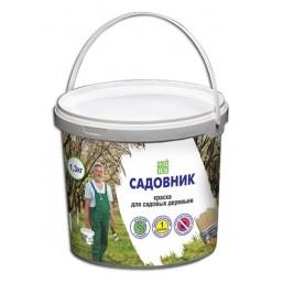 Краска для садовых деревьев Садовник 1,2 кг