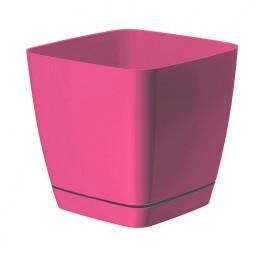 Горшок TOSCANA квадрат 17 с  подд. розовый (0733) Польша