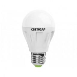 "Лампа СВЕТОЗАР светодиодная ""LED technology"", цоколь E27(стандарт), теплый белый свет (2700К), 220В, 50"