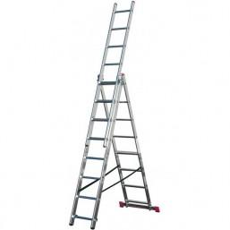 30210345 Ал. лестница CORDA 3x12 H=3.40/5.75/8.15 010445