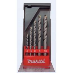 Набор сверел по бетону (4,5,6,8,10) 5 шт D-05175 Makita