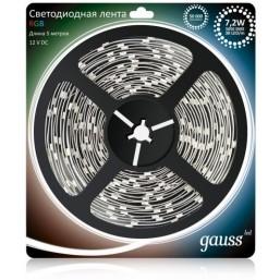 Лента Gauss 7,2W 12V DC RGB EB312000407