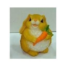Садовая фигурка Заяц с морковкой BJ070319(Р6 С6)
