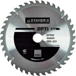"""Диск пильный STAYER MASTER """"OPTI-Line"""" по дереву, 250х30мм, 40Т"""