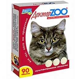 Доктор ZOO кошка биотин+таурин Здоровье кожи и шерсти