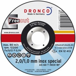 Диск Dronco 1233340 230x3/2x22,23 AS60T Freec