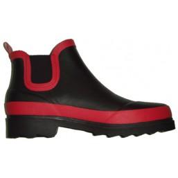 Полусапожки BA001 черные с красным