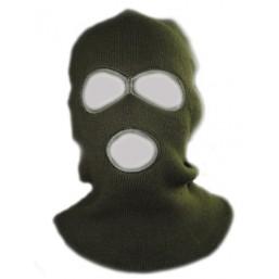 Маска-шапка зеленая, черная 5491