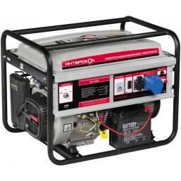 Мультитопливная электростанция  ЭБГ-5500 Интерскол, ,Ручной/ электростартер, ном 4-4,4-5кВт, макс 5,