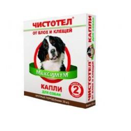 Чистотел Капли МАКСИМУМ от блох для собак крупных пород