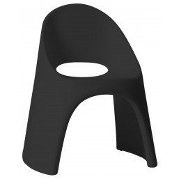 Кресло пласт. Amelie, черный, 59x67см, h-87 (SDAME080H)   SLIDE Италия