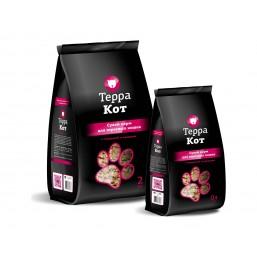 Корм Терра Кот для взрослых кошек с говядиной и овощами 0,4 кг.