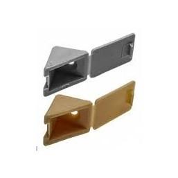 Уголок мебельный ЗУБР с шурупом, цвет св-серый, 4,0x15мм, ТФ6, 4шт