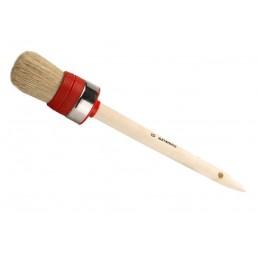 """Кисть круглая STAYER  """"UNIVERSAL-EURO"""", светлая натур. щетина, метал. корпус, нитевой бандаж, деревян. ручка, №2 x 25мм"""