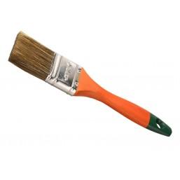"""Кисть плоская  ЗУБР """"ЛАЗУРЬ-МАСТЕР"""", смешанная щетина, деревянная ручка, 20мм"""