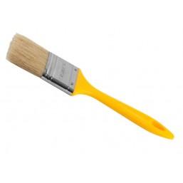"""Кисть плоская STAYER """"UNIVERSAL-MASTER"""", светлая натуральная щетина, пластмассовая ручка, 100мм"""