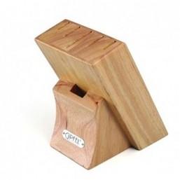 6994 GIPFEL Подставка для хранения ножей 6 slots 12х16х18 см (дерево)