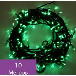 Гирлянда зеленая, 10м, LED-PHDL-10M-100PC-6W-FS,  RI GE