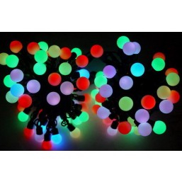 Гирлянда 10м, LED-Ball-PVC-10m-120PC-7W-MF,  RI GE