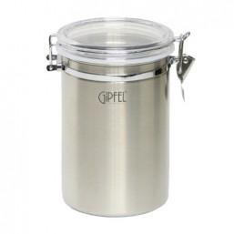 5588 GIPFEL Банка для хранения сыпучих продуктов 12,5x18,5 см / 2,2 л (нерж.сталь)