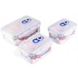 4547 GIPFEL Комплект герметичных пластиковых контейнеров для хранения продуктов 3шт (600ml*2, 1150ml