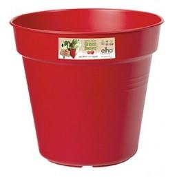 Горшок green basics growpot 30см red с поддоном saucer 25cm transparent