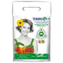 Удобрение минеральное сухое TerraSol® тукосмесь с микроэлементами, гранулированное Универсальное 5кг