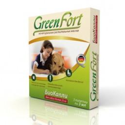 Green Fort БиоКапли от блох для крупных собак 3*2,5мл