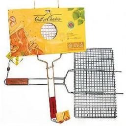 Решетка гриль для курицы CW Grill o`Chicken (размер 260*440*25см, хромир.сталь, вес 1.1кг) BL-004
