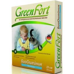 Green Fort БиоОшейник от блох  для кошек 35см