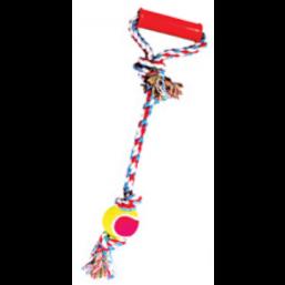 """0149XJ 20 Аппортировка """"Веревка .цветная длинная .ручка с..мячом250"""