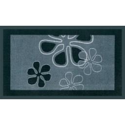 Коврик полиамидный Mondial Flowers, 45x75, черный 555-307  HAMAT  Голландия