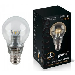 Лампа Gauss LED Glob Cry cl 7W E27 27 (105202107)