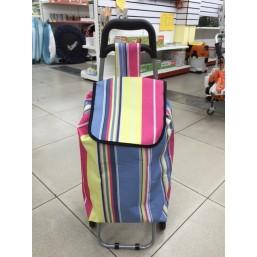 Тележка хозяйственная с сумкой 945-042 (90*36*32см, 6 колес)