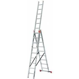 30210410 Ал. лестница Tribilo 3х9 S  H=6,05/7,10м  (120601) Krause