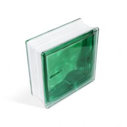 Стеклоблок Cloudy Green 190х190х80мм, JH017  D G