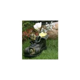 Горшок Улитки на черном ботинке HA9005-3S  GS