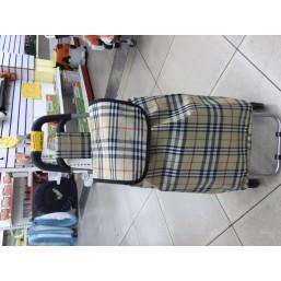 Тележка хозяйственная с сумкой и откидным стулом 008А-1 (90,5*37*56см, 6 колес) 945-886