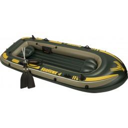 Надувная лодка 4-х местная Intex Seahawk 400 Boat Set 351 х 145 x 48 см