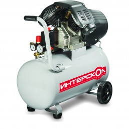 Компрессор маслянный коаксиальный КВ-356/50 Интерскол, мощ 2 кВт, раб. давление 8 бар, произ. по вса