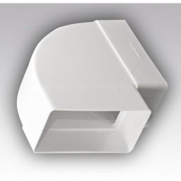 Колено плоское горизонтальное пластмассовое Эковент 612КГП
