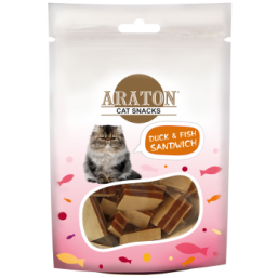 ARATON  Snack for cats duck sandwiches 50g