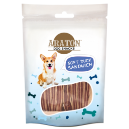 ARATON  Snack for dogs duck sandwiches 75g