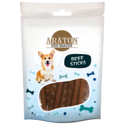 ARATON  Snack for dogs beef sticks 75g