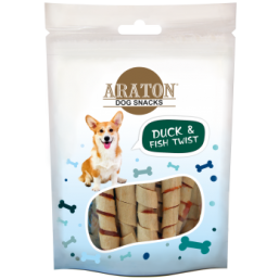 ARATON  Snack for dogs duck nd cod rolls 75g