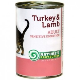 NP Cat Sensible Digestion Turkey&Lamb 400g canned food for cats