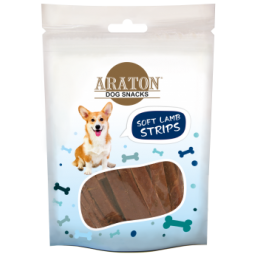 ARATON  Snack for dogs soft lamb stripes 75g