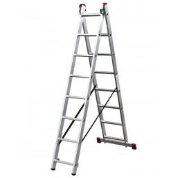 30210380 Ал. лестница Corda 2х8 Н=3,08/3,98м  (010284) Krause