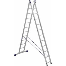 30216014 Ал. лестница 2х12, Н=5,62/6,72м  (5212)