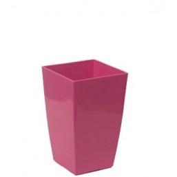 Кашпо Финезия 140х140мм, цвет розовый  Польша